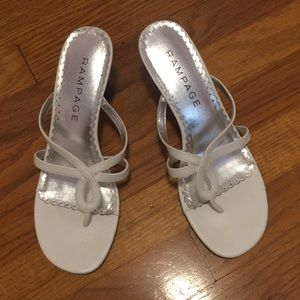 Rampage white heals/sandal
